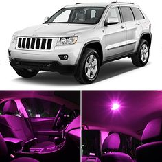 Jeep Grand Cherokee 2011 & Up Pink Premium LED Interior Lights Package Kit (10 Pieces) LEDpartsNow http://www.amazon.com/dp/B00OJZ1O70/ref=cm_sw_r_pi_dp_MxKOub0QAYDHM