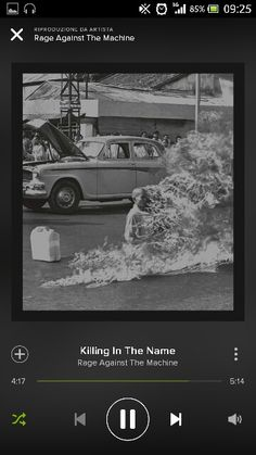 """Rage Against The Machine - Killing in the name - """" Come on...Fuck you, I won't do what ya tell me... Fuck you, I won't do what ya tell me... Fuck you, I won't do what ya tell me... Fuck you, I won't do what ya tell me... Mother fucker!!!"""""""