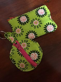 Matching key chain wallet & ear bud holder.