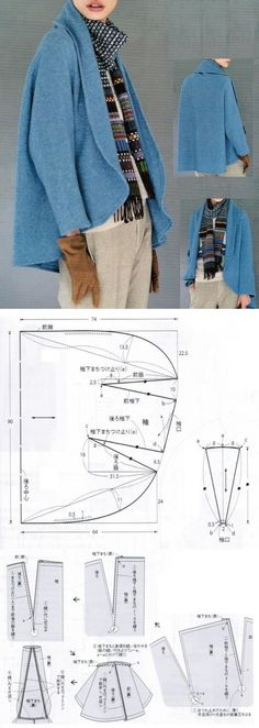 wool felt swing jacket pattern - not in english
