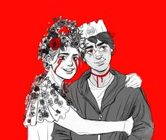 Midsommar and Hereditary, horror films, terror, fanart Horror Icons, Horror Films, Horror Art, Akira Anime, Character Art, Character Design, Etch A Sketch, Fanart, Cool Art Drawings