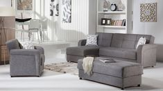 Vision Diego Gray Sectional Sofa by Istikbal Furniture Living Room Nook, Beige Living Rooms, Living Room Sets, Sectional Sleeper Sofa, Gray Sectional, Sofa Beds, Couches, Victorian Couch, Modern Victorian