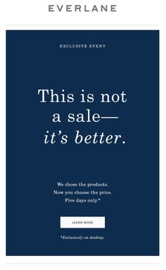 Everlane sale email. SL: This Has Never Happened