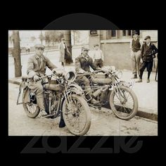 2 men on motorcycles huge poster from http://www.zazzle.com/amazingvintage