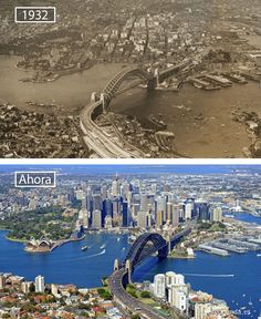 Victoria is the most urbanized and second most occupied in state in the Commonwealth of Australia. Victoria is bounded by Tasmania in the south, South Australia in the west, and New South Wales in the north. Then And Now Pictures, Before And After Pictures, Sydney City, Sydney Harbour Bridge, Sydney Ville, Photo Voyage, Historical Pictures, Tasmania, Australia Travel