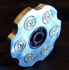 Fidget Spinner \'Hand Cannon\' with 6061 Aluminum Frame & Hybrid Ceramic  Center Bearing by