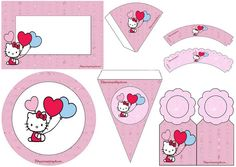 Hello Kitty: Mini Kit para Imprimir Gratis.