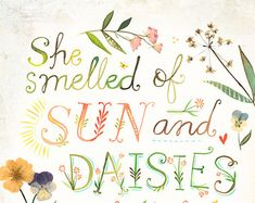 Beautiful Day Art Print Watercolor Quote Hand by thewheatfield