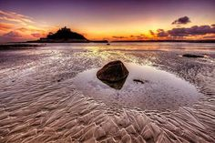 St Michaels Mount Cornwall-sunset