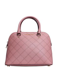 fd3559d140 MICHAEL Michael Kors Cindy Quilted Leather Medium Dome Satchel (Dusty Rose)