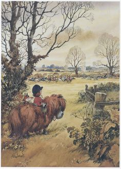 Norman Thelwell. My sympathies are with the fox too!