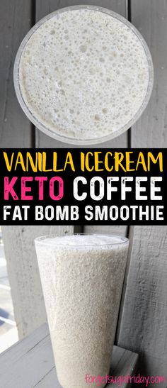 WOW! This keto fat bomb is a keto coffee smoothie that really tastes like vanilla ice cream! This keto smoothie tastes INCREDIBLE and is the perfect way to perk yourself up when it's warm outside. You will love this ketogenic smoothie recipe that doubles as a ketogenic fat bomb! (can be made dairy-free) #ketocoffee #ketosmoothie #fatbomb #ketorecipes