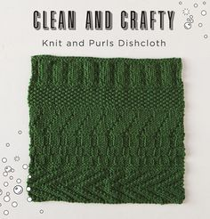 Our freebie of 2017 gives you lots of practice with basic stitches - check out the free Knits and Purls Dishcloth pattern! Knitting Blogs, Knitting For Beginners, Free Knitting, Knitting Projects, Simple Knitting, Knitting Ideas, Dishcloth Knitting Patterns, Knit Dishcloth, Knitting Stitches