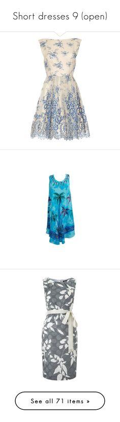 """Short dresses 9 (open)"" by irnarenko ❤ liked on Polyvore featuring dresses, vestidos, short dresses, cocktail dresses, blue, summer cocktail dresses, sparkly dress, summer dresses, blue mini dress and tie-dye dresses"