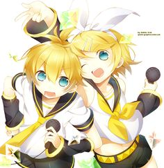 Vocaloid: Rin y Len by Makiilu