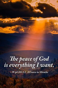 The peace of God is everything I want. ~ A Course in Miracles #acim https://www.facebook.com/AwakeningtoLoveACIM/photos/a.563611800452092.1073741827.563608800452392/722966197849984/?type=1&theater