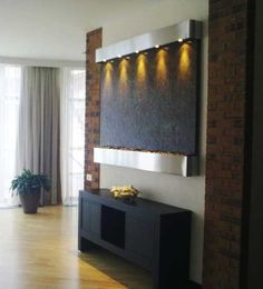 contemporary wall fountain for interior decorating or home staging