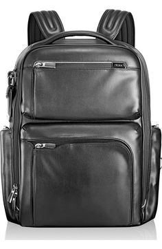 TUMI MEN S TUMI  ARRIVE - BRADLEY  CALFSKIN LEATHER BACKPACK - BLACK.  tumi 62a9c7b193d5f