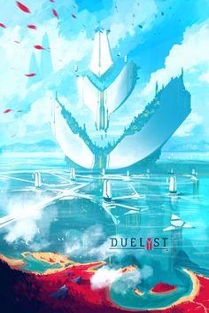 DUELYST - AESTARIA, ALCUIN LIBRARY, Counterplay Games on ArtStation at https://www.artstation.com/artwork/l9bJG