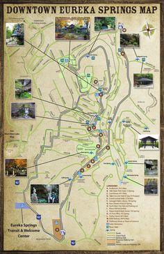 ISSUU - Eureka Springs Arkansas - Parks, Springs & Trails Map Brochure by Alex Yahola