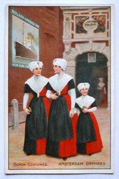 Vintage Holland America Cruise Line Postcard #burger #Amsterdam #NoordHolland #wezen