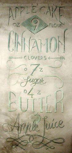 chalk typofraphy