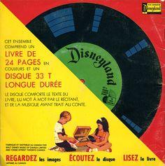 """Les disques histoires : On tournait les pages lorsqu'on entendait la Fée Clochette tinter ainsi """"tingtingtingtingting""""."""