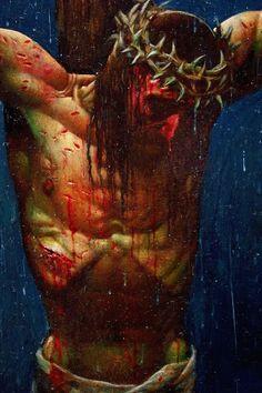 Jesus Christ Painting, Jesus Art, Crucifixion Painting, Christian Paintings, Christian Art, Passion Of Christ Images, Jesus Drawings, Simon Bisley, Jesus Photo