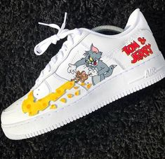 the latest 5c4fe b46f3 Tom and Jerry Air Force 1s Sneaker Boots, Nike Custom, Custom Shoes, Custom