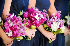 Navy and fuchsia inspiration