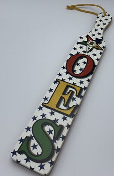 """Order of The Eastern Star - 22"""" Printed Paddle Eastern Star, Star Decorations, Sorority And Fraternity, Letter Set, Daughter Of God, License Plate Frames, Arts And Crafts, Masons"""