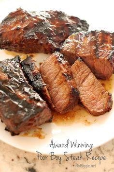 Award Winning Poor Boy Steak Recipe | NoBiggie.net