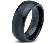 Ceramic Wedding BandMens RingMens Wedding by GiftFlavors on Etsy