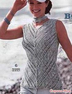 ideas crochet summer blouse outfit for 2019 Knitwear Fashion, Knit Fashion, Crochet Blouse, Knit Crochet, Moda Crochet, Handgestrickte Pullover, Summer Sweaters, Summer Knitting, Crochet Clothes