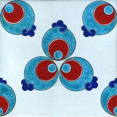 Iznik Foundation Tile  - Turkey Turkish Design, Turkish Art, Turkish Tiles, Turkish Pattern, Arabic Pattern, Tile Art, Mosaic Tiles, Tile Patterns, Textures Patterns