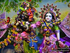 Sri Sri Radha Madan Gopal Close up Wallpaper