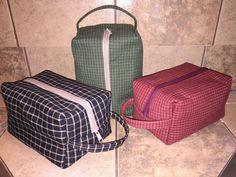 Free 1 hour Dopp kit tutorial | DIY men's toiletry bag, sewing for men.: