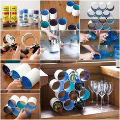 How to make Wine Bottle Stand from Cans step by step DIY tutorial picture instructions, How to, how to make, step by step, picture tutorials, diy instructions, craft, do it yourself