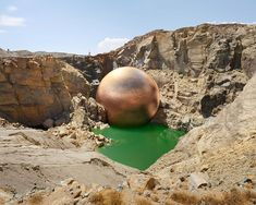 nyctaeus: Photographer Dillon Marsh has photographed a number of mines in South Africa and digitally added computer-generated visualisation of the amount of copper extracted there Land Art, Photos Du, Cool Photos, Amazing Photos, South African Artists, Art Moderne, Art Abstrait, Environmental Art, Public Art