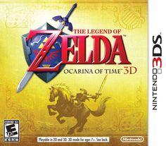 The Legend of Zelda: Ocarina Of Time 3D - 3DS Box (USA)