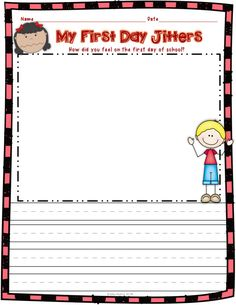 FREEBIE! This First Day Jitters activity is included in my First Day Jitters…