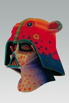 Don't miss out on this highly innovative and colorful series of Darth Vader Helmet, if you wish to don the new Darth Vader look. Darth Vader Mask, Vader Helmet, Marlene Dumas, Elephant Walk, Helmet Design, Star Wars Art, Funny People, Cool Art, Fun Art
