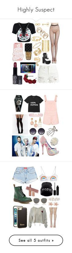 """""""Highly Suspect"""" by milkyspill ❤ liked on Polyvore featuring R13, ban.do, Gucci, Sydney Evan, Jules Smith, EF Collection, Cartier, Iconery Basics, Iron Fist and ASOS"""