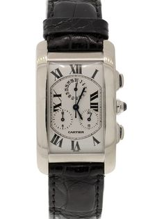 Vintage Cartier Tank Americaine Chrono Watch, 26mm by Cartier at Gilt