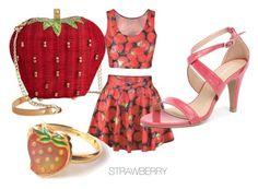 """Strawberry tastiness"" by girlsramazing on Polyvore"