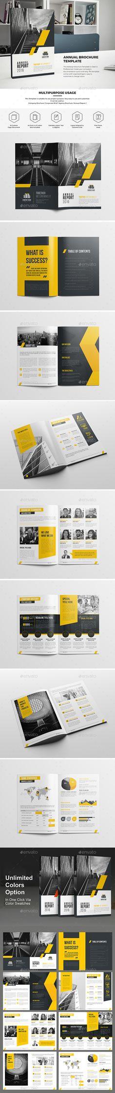 Haweya Annual Report by Haweya_Studio Haweya Annual Report InDesign Brochure Template is Clean & Professional. Create your companys documentation quick and easy Company Brochure, Corporate Brochure, Corporate Design, Brochure Design, Indesign Brochure Templates, Flyer Design Templates, Editorial Design, Web Design, Creative Design