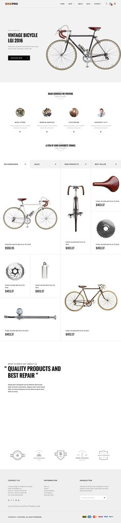 ePro is an advanced OpenCart theme fully customizable and suitable for multipurpose eCommerce #websites. #bike #bicycle #shop Download Now!