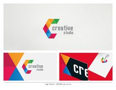 Colorful Letter Logo Creative Business Card Graphic Design