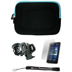 Blue/Black Sleeve with Interior Fur Padding for Samsung Galaxy Tablet + Includes a Durable Screen Protector + Includes a 360° Rotatable Windshield Mount by eBigValue. $29.99. Cover Sleeve with Interior Fur Padding for Samsung Galaxy Tablet Protection for your tablet. Comes with two way zipper opening, small accessory pocket inside, and cover edges to keep Galaxy secure. Light weight for hand mobility and scratch resistant. The cover is made to keep your tablet safe and off t...