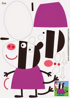 Moldes para TMoldes para Todo: :: Peppa Pig y amigos ::odo: :: Peppa Pig y amigos :: Molde Peppa Pig, Cumple Peppa Pig, Pig Crafts, Felt Crafts, Crafts For Kids, Peppa E George, George Pig, Familia Peppa Pig, Peppa Pig Family